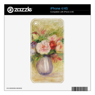 Vase of Flowers (oil on canvas) Decals For iPhone 4