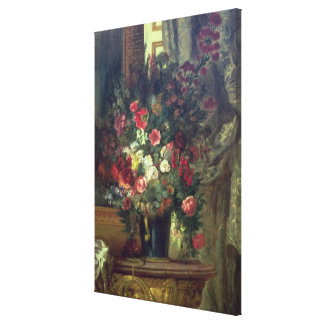 Vase of Flowers on a Console, 1848-49 Canvas Print