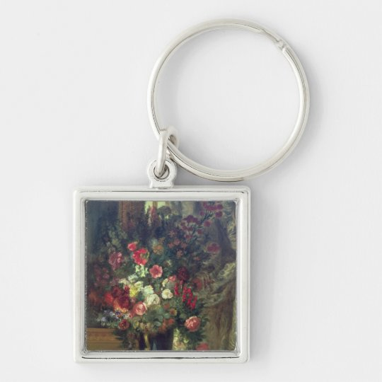 Vase of Flowers on a Console, 1848-49 Keychain