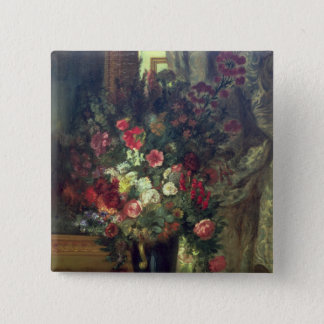 Vase of Flowers on a Console, 1848-49 Pinback Button