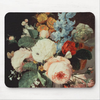 Vase of Flowers on a marble ledge Mouse Pad