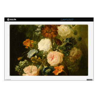"""Vase of Flowers Decals For 17"""" Laptops"""