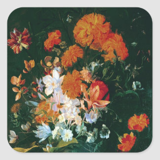 Vase of Flowers Square Sticker