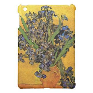 Vase of Irises Against a Yellow Background iPad Mini Covers