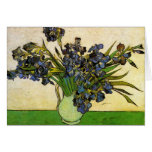 Vase of Irises, Van Gogh Greeting Card