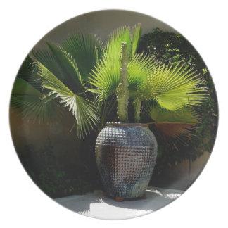 Vase of Palms plate