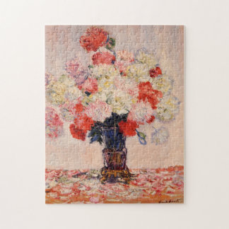 Vase of Peonies Monet Fine Art Jigsaw Puzzle