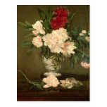 Vase of Peonies on a Small Pedestal, 1864 Post Card