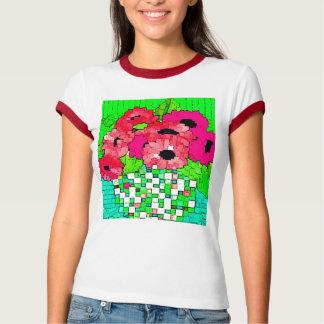Vase of Pink Flowers Shirt