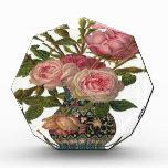 Vase of Pink Roses Acrylic Award