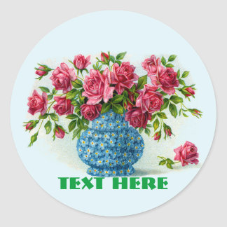 Vase of Pink Roses Stickers