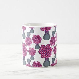 Vase of Purple Flowers Mugs