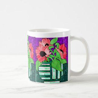 Vase of Red Daisies Mug