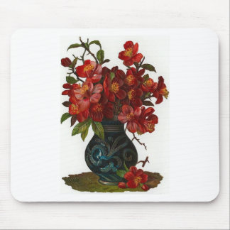 Vase of Red Flowers Mouse Pad