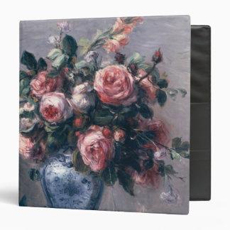 Vase of Roses 3 Ring Binder