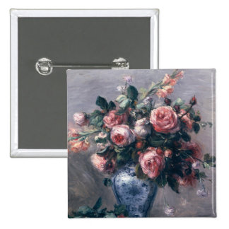 Vase of Roses Button