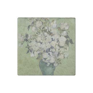 Vase of Roses by Vincent Van Gogh Stone Magnet