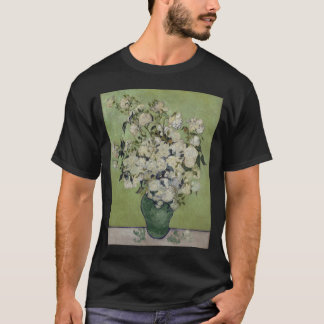 Vase of Roses by Vincent Van Gogh T-Shirt