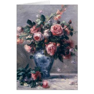 Vase of Roses Card