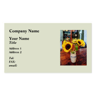 Vase of Sunflowers Double-Sided Standard Business Cards (Pack Of 100)