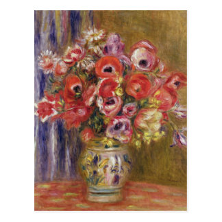 Vase of Tulips and Anemones, c.1895 Postcard