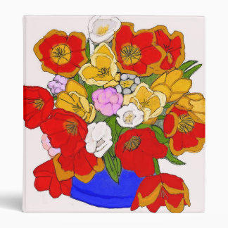 Vase of Tulips Binder