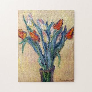 Vase of Tulips Monet Fine Art Jigsaw Puzzle