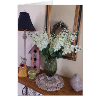 Vase Of White Flowers, Easter Stationery Note Card