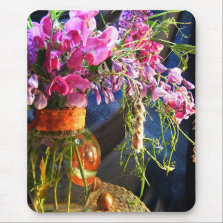 Vase of Wild Blossoms Mouse Pad