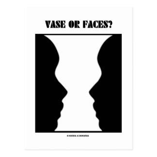 Vase Or Faces? (Optical Illusion) Postcard