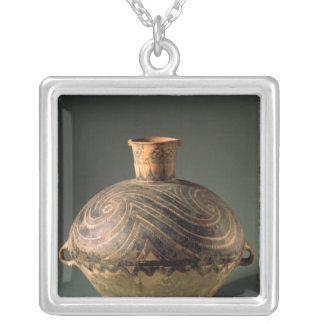 Vase painted with a spiral pattern, from Gansu Silver Plated Necklace