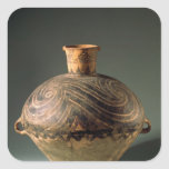 Vase painted with a spiral pattern, from Gansu Square Sticker