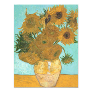 Vase with 12 Sunflowers by Van Gogh Vintage Flower Card