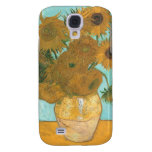 Vase with 12 Sunflowers by Van Gogh Vintage Flower Samsung Galaxy S4 Covers