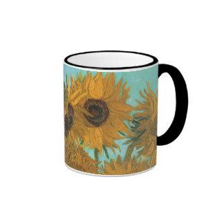 Vase with 12 Sunflowers by Van Gogh Vintage Flower Mug