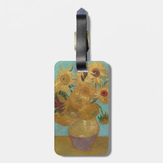 Vase with 12 Sunflowers by Vincent Van Gogh Bag Tags