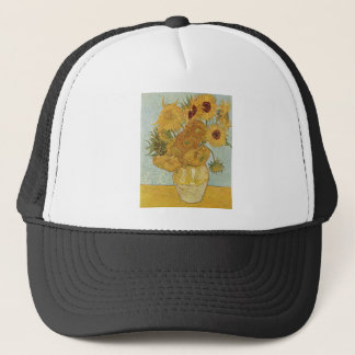 Vase with 12 Sunflowers by Vincent Van Gogh Trucker Hat