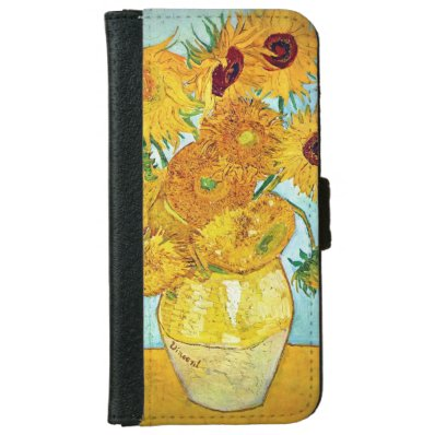 Vase with 12 Sunflowers iPhone 6 Wallet Case