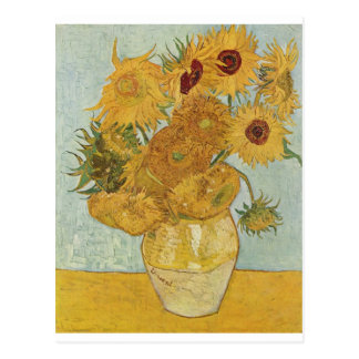 Vase with 12 Sunflowers Postcard