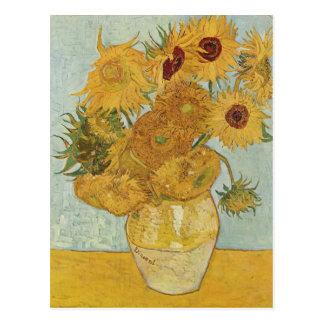 Vase with 12 Sunflowers - Vincent Van Gogh (1888) Postcard