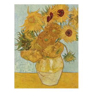 Vase with 12 sunflowers - Vincent Van Gogh Postcard