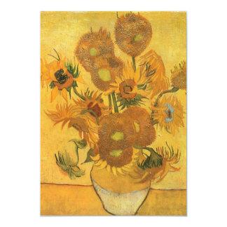 Vase with 15 Sunflowers by Van Gogh Vintage Flower Card