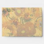 Vase with 15 Sunflowers by Van Gogh Vintage Flower Envelope
