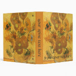 Vase with 15 Sunflowers by Vincent van Gogh Binder