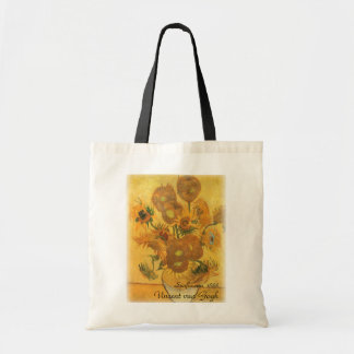 Vase with 15 Sunflowers by Vincent van Gogh Tote Bag