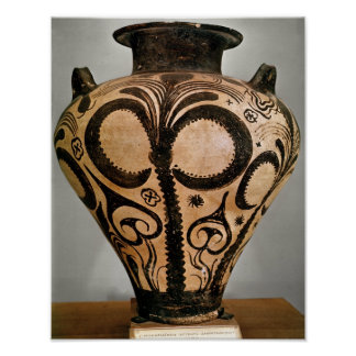 Vase with a floral decoration, from Mycenae Posters