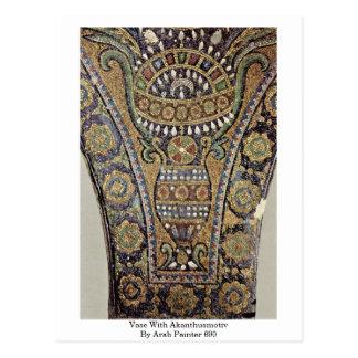 Vase With Akanthusmotiv By Arab Painter 690 Postcard