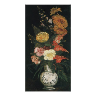 Vase with Asters and Silva  by Vincent van Gogh Poster