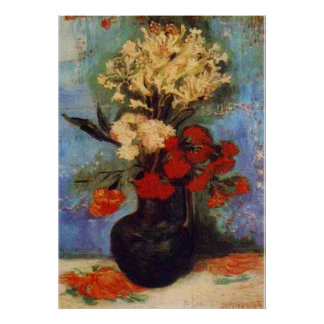 vase with carnations and other flowers van Gogh Poster