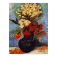 vase with carnations and other flowers vna Gogh Postcards